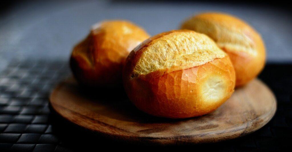 roll, bread, food